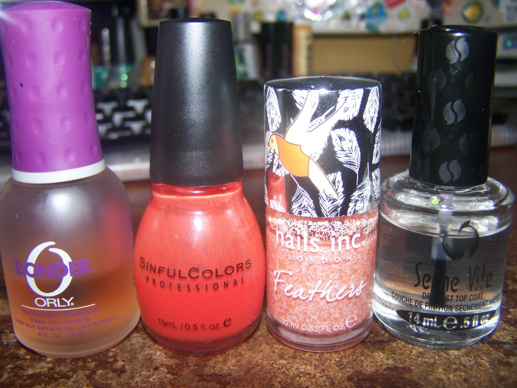 Sinful Colors's Big Daddy, Nails Inc. Feathers in York