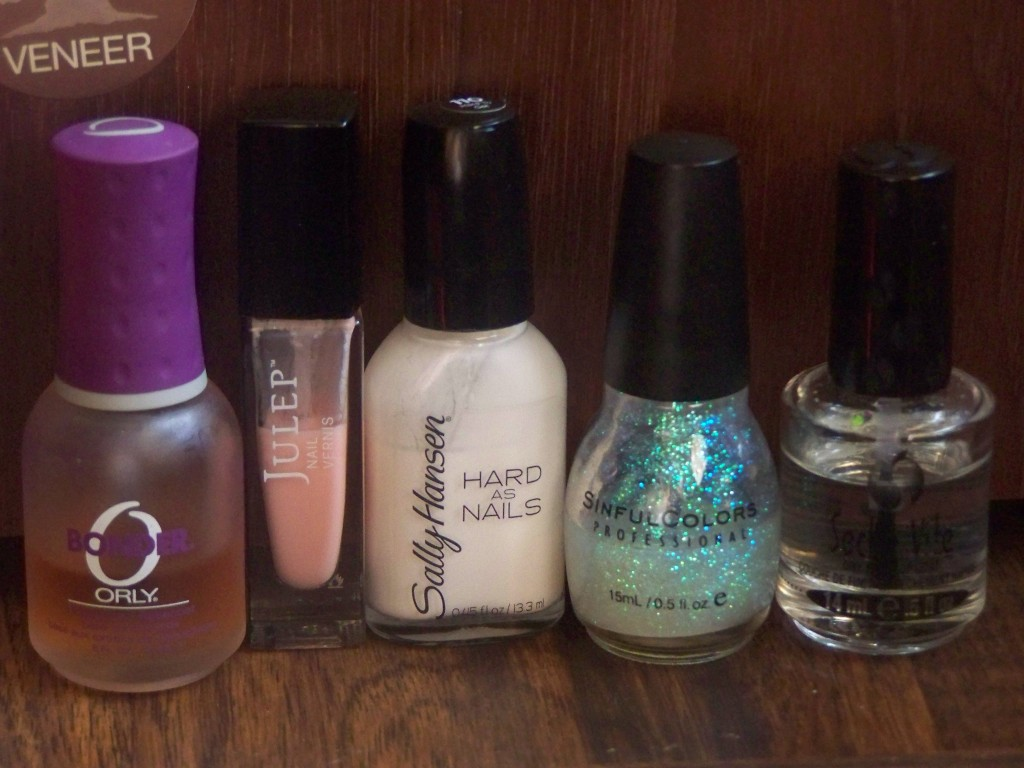 Julep's Emmanuelle, Sally Hansen's Hard to Get, Sinful Colors' Pearl Harbor