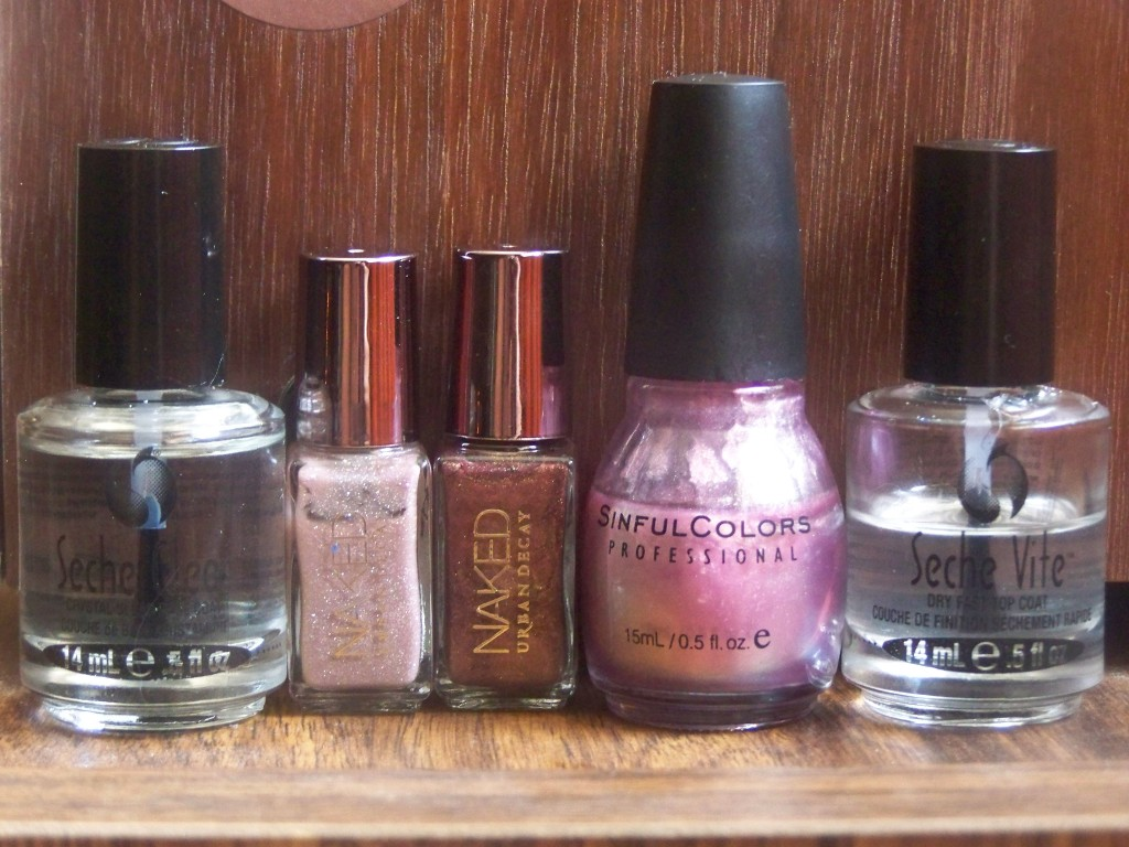 Urban Decay's Sidecar and Smog, Sinful Colors' Bali Mist