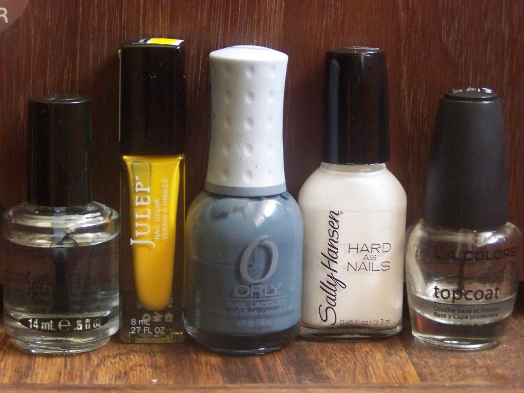 Julep's Lexie, Orly's Decoded, Sally Hansen's Hard to Get (again)