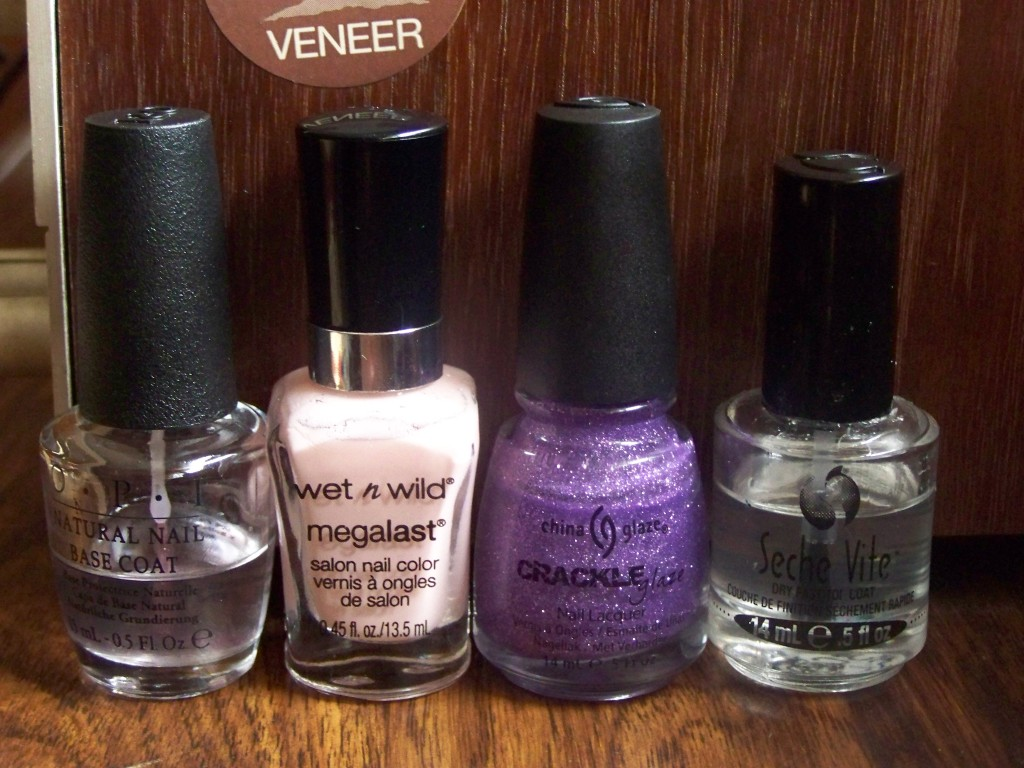 Wet 'n Wild's Sugar Coat, China Glaze's Luminous Lavender