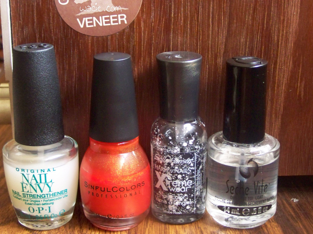 Sinful Colors's Courtney Orange, Sally Hansen's Strobe Flash