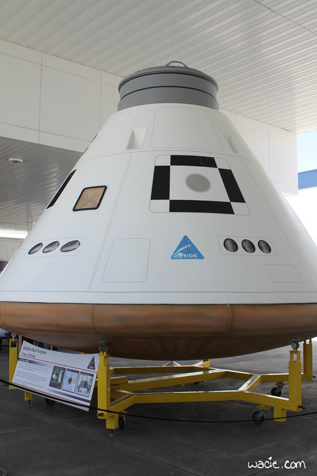 This is an Orion model at Kennedy Space Center. It was a little more convincing in person.