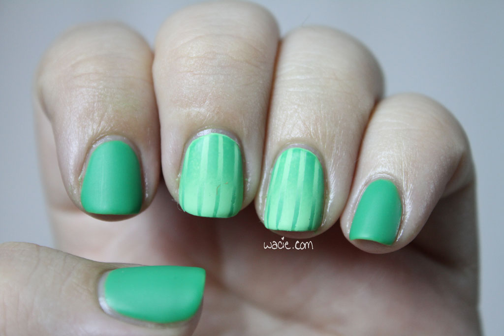 Manicure Monday: Double Reverse Green on Green Gradient - Wacie ...