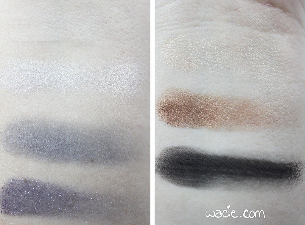 Eyeshadows, Left: Sonia Kashuk Queen of the Blues, Right: ipsy + NYX neutrals palette